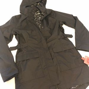 Beautiful black rain coat